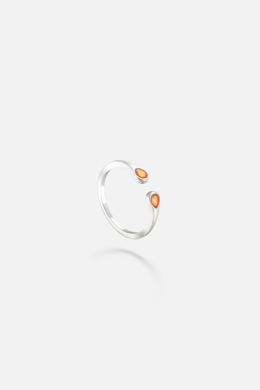 Кольцо на фалангу «Две капли»
