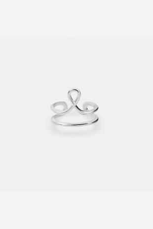 Плетёное кольцо на фалангу «Петелька»