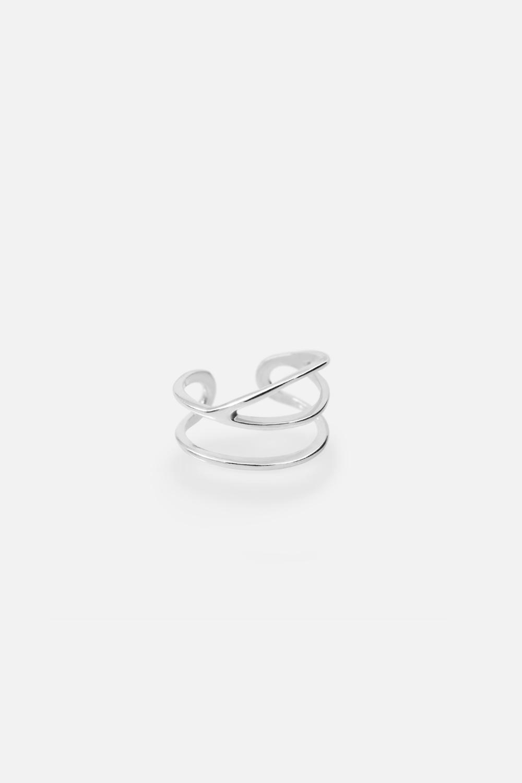 Плетёное кольцо на фалангу «3 линии»