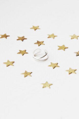 Плетёное кольцо на фалангу «2 линии»