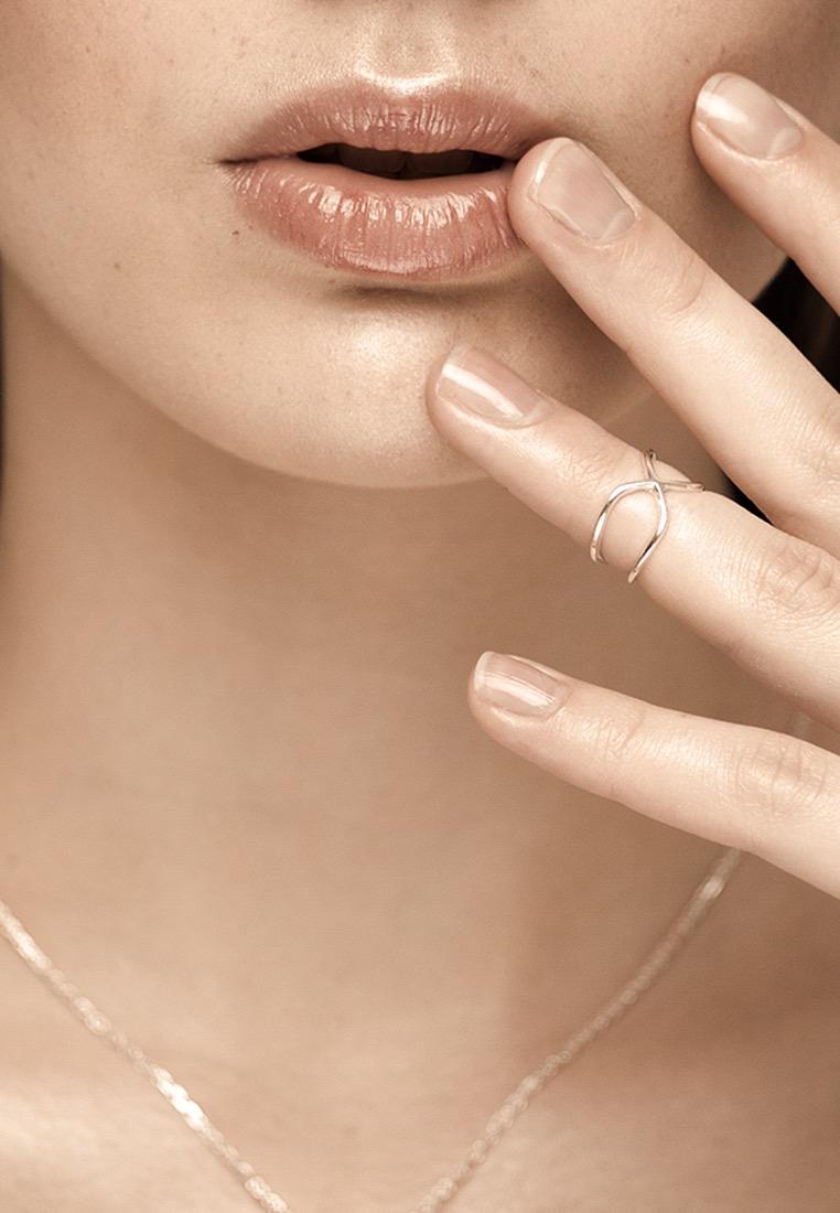 Плетёное кольцо на фалангу «Восьмерка»