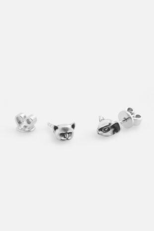 Серьги «Мышь и кот»