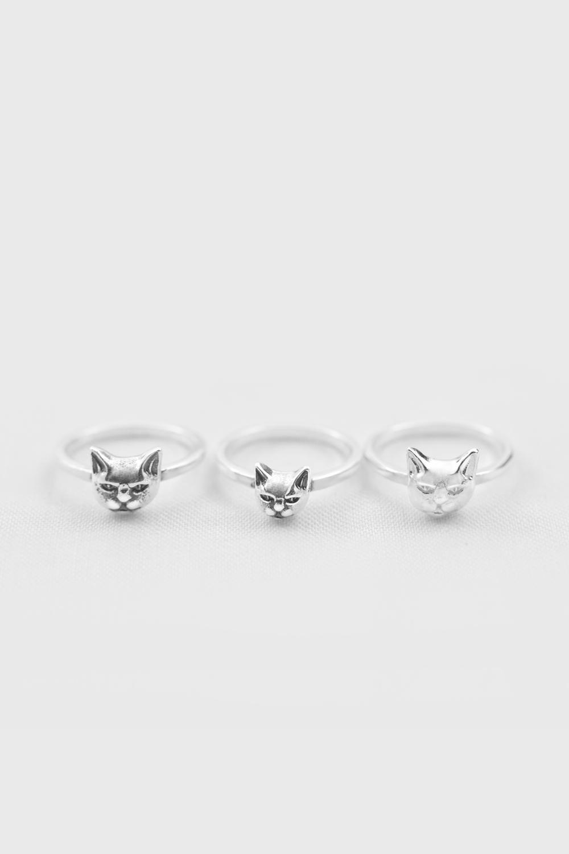 Кольцо на фалангу «Маленький кот»