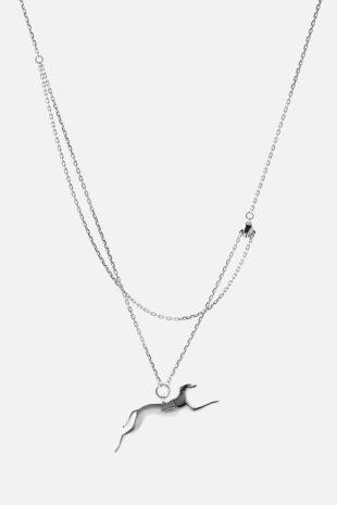 Ожерелье «Рука держит собаку Салуки»