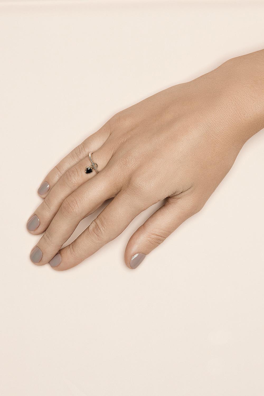 Кольцо с передвижным сердцем