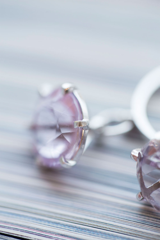 Кольцо с двумя подвижными топазами