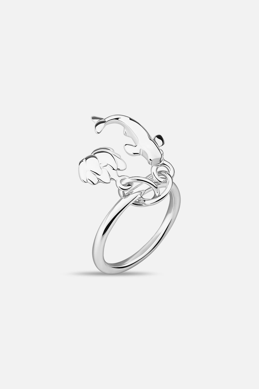 Кольцо с карпами